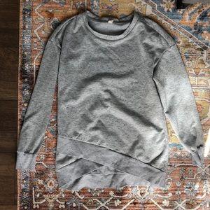 Medium Pink Blush gray sweatshirt